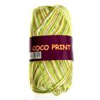 Пряжа Коко принт,(Coco Vita Print) 50 г / 240 м 4671 желто-зеленый