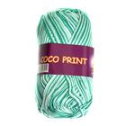 Пряжа Коко принт,(Coco Vita Print) 50 г / 240 м 4675 бел-зелен.