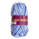Пряжа Коко принт,(Coco Vita Print) 50 г / 240 м 4659 бел-синий