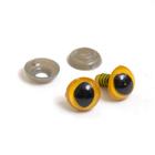 Глаза винтовые круглые Кошач.12 мм желтый