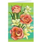 Набор для творчества Клевер АБ 23-651  «Розы и лилии» (открытка)