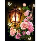 Алмазная мозаика АЖ-1721  «Фонарь в розах»