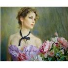 Набор для раскрашивания Molly KH0151  «К.Разумов.Портрет девушки с пионами» 40*50 см