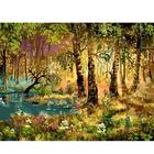 Набор для раскрашивания Белоснежка AS066 «Утро в лесу» 30*40 см