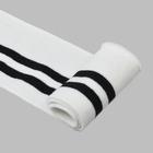 Подвяз трикотажный п/эTBY73003 белый с черными полосами  6*80 см