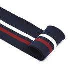 Подвяз трикотажный п/эTBY73008 синий с белой и бордовой полосами 6*80см