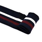 Подвяз трикотажный п/эTBY73019 т.синий с белой и бордовой  полосами 3,5*80 см