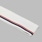 Подвяз трикотажный п/эTBY73020 белый с т.синей и бордовой  полосами 3,5*80см