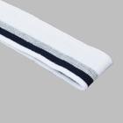 Подвяз трикотажный п/эTBY73021 белый с т.синей и серебряной  полосами 3,5*80см