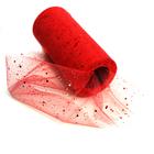 Фатин TBY.81934 в шпульках с глиттером и блёстками шир. 150 мм  (уп. 22,86 м) 010 красный
