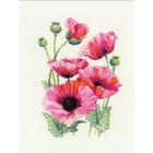 Набор для вышивания Риолис №1775 «Розовые маки» 25*33 см