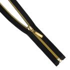 Молния Т5 декор. спираль 1-бег. 18 см золото