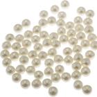 Бусины Астра пластик круглые жемчуг 10 мм (25 г) 003 молочный