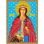 Рисунок для вышивания бисером Каролинка КБИ-4057 «Св.Екатерина» 18*25 см