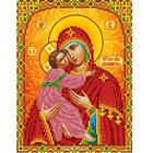 Рисунок для вышивания бисером Каролинка КБИ-4102 «Владимирская» 18,5*24,5 см