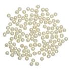Бусины Астра пластик круглые жемчуг  6 мм  (25 г) 003 NL молочный