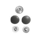 Кнопки Прот. 15 мм пласт. 7165  т.-серый