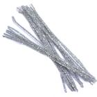 Синель-проволока люрекс 30 см * 6 мм (уп. 20 шт.) А-082 серебро