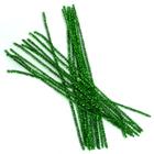 Синель-проволока люрекс 30 см * 6 мм (уп. 20 шт.) А-084 зелёный