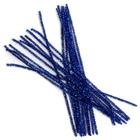 Синель-проволока люрекс 30 см * 6 мм (уп. 20 шт.) А-086 синий