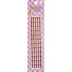 Декор. наклейки со стразами №2 (уп. 180 шт.) 4 мм 1031/7377 красный