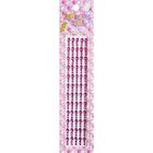 Декор. наклейки со стразами №2 (уп. 180 шт.) 4 мм 1032/7384 малиновый