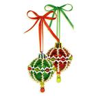 Набор для бисероплетения Риолис Б172 Новогоднее украшение «Шары» d=4 см