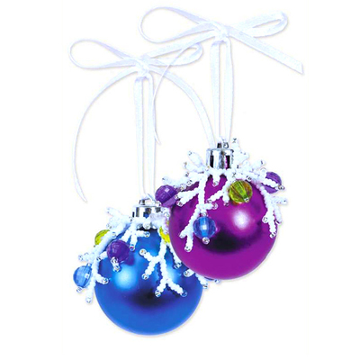 Набор для бисероплетения Риолис Б173 Новогоднее украшение «Шары» d=4 см в интернет-магазине Швейпрофи.рф