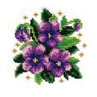 Набор для вышивания бисером Кларт 8-116 «Фиалки»