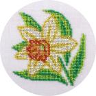 Набор для вышивания бисером Кларт 8-170 «Нарцисс» 12*12 см