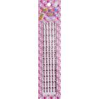 Декор. наклейки со стразами №2 (уп. 180 шт.) 4 мм 1033/7391 бл. розовый