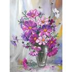 Набор для вышивания бисером МП 0006/Б «Цветочная рапсодия» 28*38 см