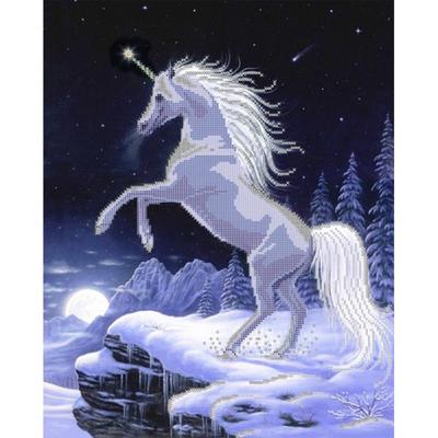 Рисунок для вышивания бисером Астрея (Gluria) 72024 «Единорог» 32*40 см в интернет-магазине Швейпрофи.рф