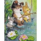 Рисунок для вышивания бисером Астрея (Gluria) 76035 «На рыбалке» 21*30 см