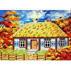 Рисунок для вышивания бисером Каролинка КББ-4003  «В деревне. Осень» 25*18 см