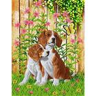 Рисунок для вышивания бисером Каролинка КБЖ-3009 «Верные друзья» 27*35 см