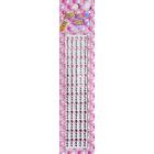 Декор. наклейки со стразами №2 (уп. 180 шт.) 4 мм 1039/7452 розовый