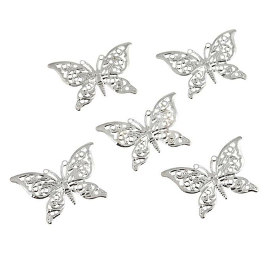 Декор 7703983 Астра «Бабочка» мет. 40*27 мм (уп. 5 шт.) в интернет-магазине Швейпрофи.рф
