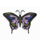 Термоаппликация ГСФ1519 Бабочка 43*63 мм 503599 черно-розовый