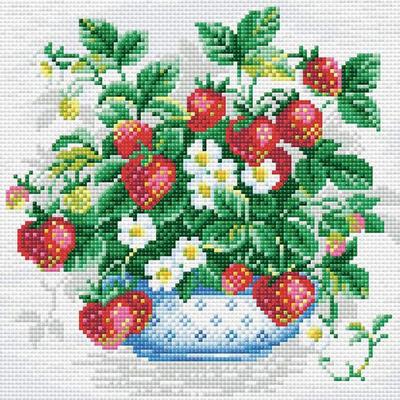 Алмазная мозаика Риолис АМ0008 «Клубника» 27*27см в интернет-магазине Швейпрофи.рф