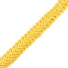 Тесьма отделочная 13 мм ШМ «Шанель» (уп. 25м) №SR019 жёлтый