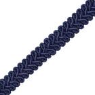 Тесьма отделочная 13 мм ШМ «Шанель» (уп. 25м) №SR036 т.-синий