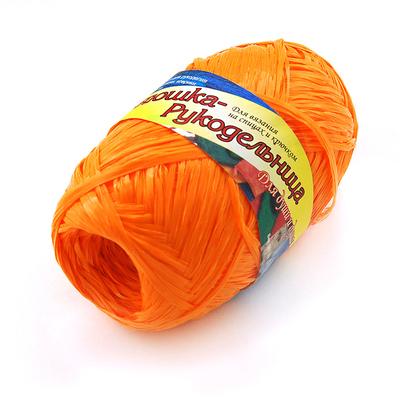 Пряжа Хозяюшка-рукодельница Для души и душа, 50 г / 200 м, №01 апельсин в интернет-магазине Швейпрофи.рф