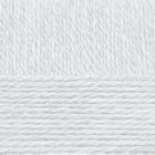 Пряжа Деревенская, 100 г / 250 м, 001 белый в интернет-магазине Швейпрофи.рф
