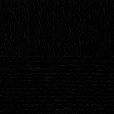 Пряжа Деревенская, 100 г / 250 м, 002 черный в интернет-магазине Швейпрофи.рф