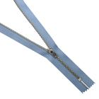 Молния TIT Т4 мет.  18 см никель/джинс св. голубой