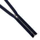 Молния TIT Т4 мет.  20 см никель/джинс синий