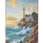 Рисунок для вышивания бисером Каролинка КБП-3035 «Маяк» 27*35,5 см