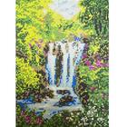Рисунок для вышивания бисером Каролинка КБП-4010 «Водопад» А4