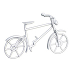 Металл KB2814W велосипед 9,7*5,5 см белый